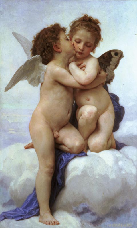 L'Amour et Psyché, enfants van William-Adolphe Bouguereau, 1890