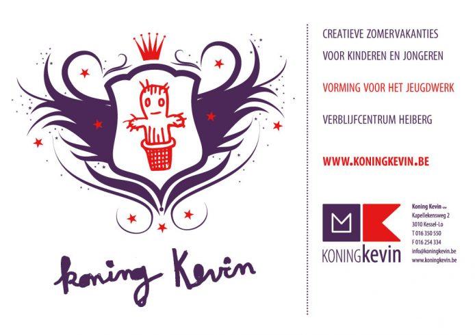 Layout van een spandoek voor Koning Kevin